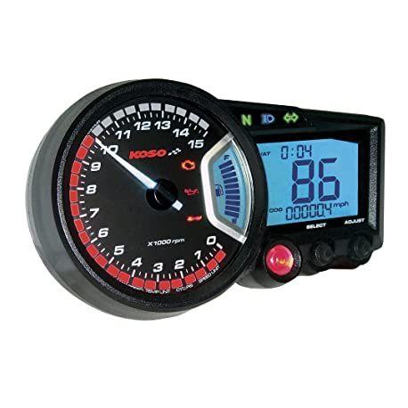 Compteur de vitesse et compte-tours multifonctions KOSO RX2 GP style