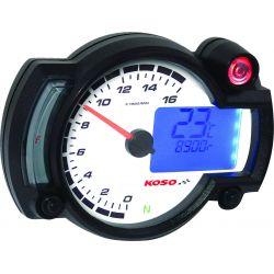 Compte-tour avec shift light et thermomètre KOSO RX2NR