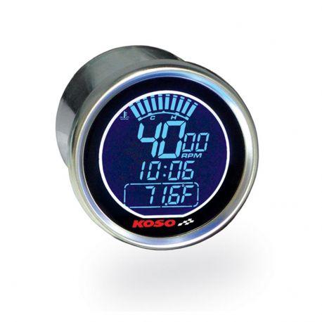 Compte-tours et thermomètre digital KOSO D55 DL-01R LCD Black