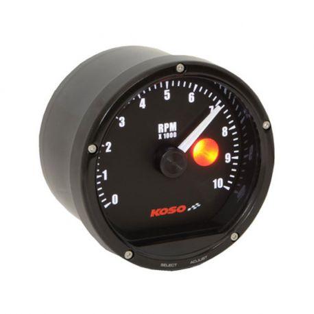 Compte-tours à aiguille 10000tr/min KOSO D86 T&T avec shift light