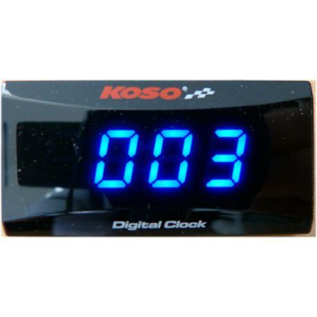 Horloge KOSO extra plate avec rétroéclairage bleu