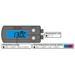 Thermomètre digital avec alarme KOSO EGT pour gaz d'échappement