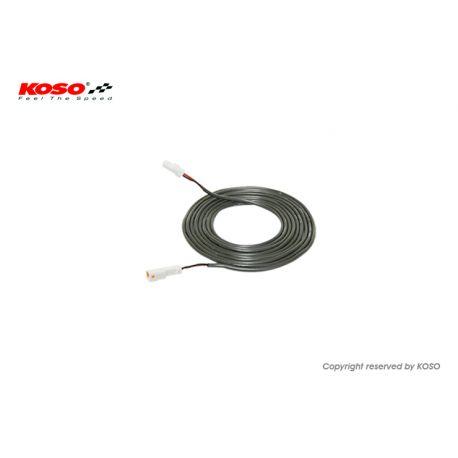 Rallonge de 1m pour sonde de température KOSO avec connecteur type JST