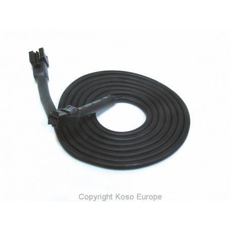 Rallonge universelle pour sonde de température KOSO avec connecteur noir