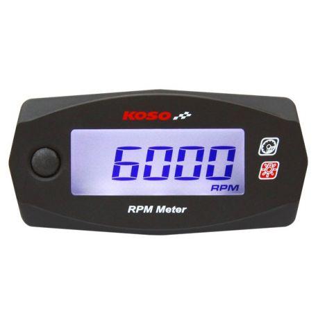 Compte-tours universel KOSO RPM mini 4 pour moto cross et quad