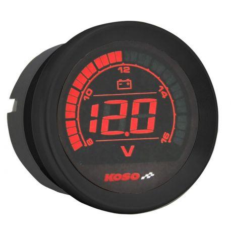 Voltmètre digital KOSO écran LCD couleur D57 HD-02V volt meter universel