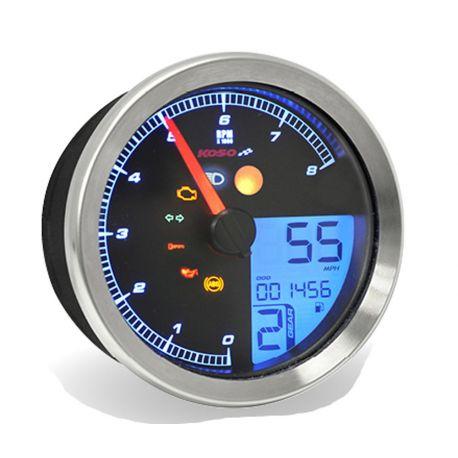 Compte-tours KOSO digital D94 HD écran LCD couleur 0 à 8000tr/min
