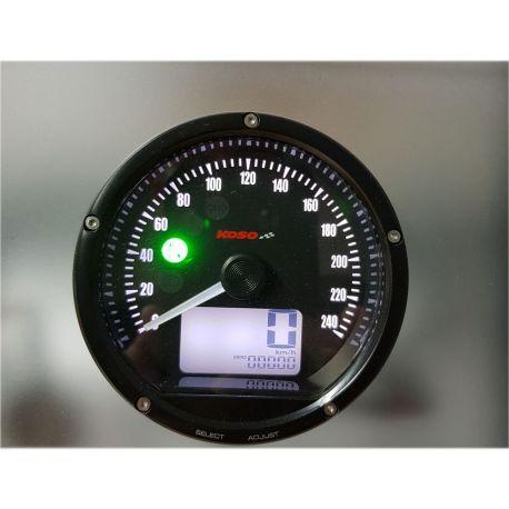 Compteur de vitesse à aiguille KOSO D75 0 à 260km/h