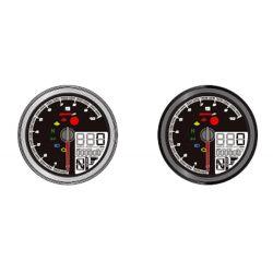 Compteur de vitesse et compte-tours KOSO TNT-04 multifonctions noir
