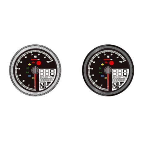 Compteur de vitesse et compte-tours KOSO TNT-04 multifonctions Chromé