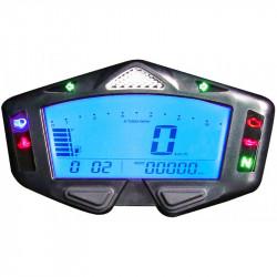 Compteur de vitesse & compte-tours digital universel KOSO DB-03R personnalisable multifonctions