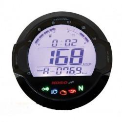 Compteur de vitesse et jauge à essence digital rond KOSO D64 DL-03S