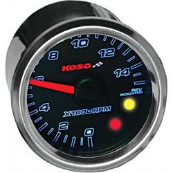 Compte-tours KOSO D48 avec shift light de 0 à 15000tr/min