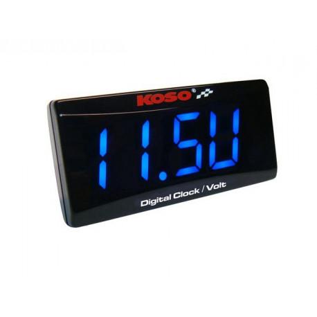 Horloge et Voltmètre Koso super slim style de 6.0 à 19.9 Volts