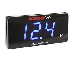 Voltmètre Koso super slim style de 8.0 à 18.0 Volts
