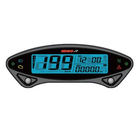 Compteur de vitesse KOSO DB EX-02 universel avec voltmètre et compteur d'heure