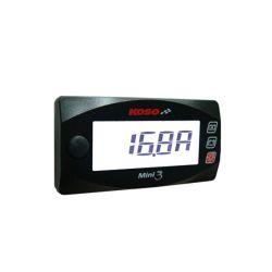 Ampèremètre et voltmètre Koso mini3 style de 0 à 30A et de 6 à 19.9Volts